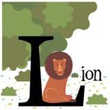 Εικόνα χρώματος με ένα λιοντάρι Στοκ Εικόνες