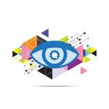Дизайн предпосылки глаза абстрактный Стоковые Фотографии RF