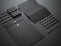 Черный клеймя модель-макет Стоковые Фотографии RF