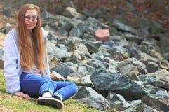 青少年的岩石 库存图片