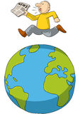 Τρέξιμο σε όλο τον κόσμο Στοκ Εικόνα