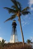 风景灯塔海滩场面 免版税库存照片