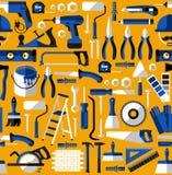Άνευ ραφής σχέδιο χρώματος της οικοδόμησης των εργαλείων Στοκ Φωτογραφίες