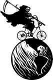死亡自行车和地球 免版税图库摄影