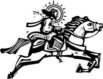 一匹跳跃的马的基督 图库摄影