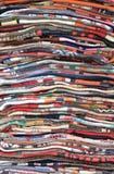 折叠待售地毯 图库摄影