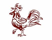 红色公鸡,雄鸡 库存照片