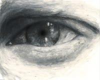 黑色接近的眼睛 库存照片