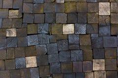 Σύσταση πεζοδρομίων των ξύλινων φραγμών Στοκ φωτογραφία με δικαίωμα ελεύθερης χρήσης