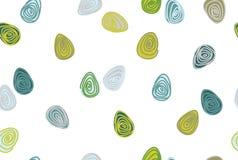 传染媒介无缝的蛋形状样式 图库摄影