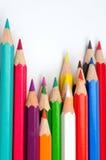 χρωματισμένα μολύβια Στοκ εικόνες με δικαίωμα ελεύθερης χρήσης