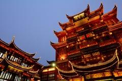 上海-豫园游人小店 免版税库存照片