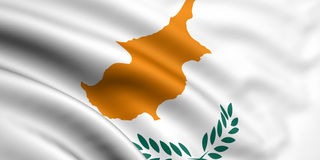 флаг Кипра Стоковые Фото