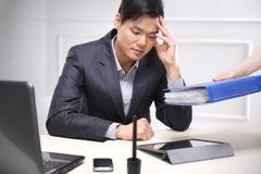 工作责任,电子邮件,电话,文件 库存图片
