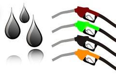 цветастая нефть ручек падений Стоковые Фото
