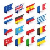 Флаги мира, Европы Стоковое Фото