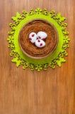 Αυγά Πάσχας σε μια φωλιά Στοκ Εικόνες