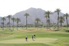 Поле для гольфа пустыни Стоковая Фотография