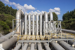 геотермическая электростанция Стоковая Фотография RF