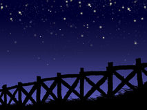 ноча загородки звёздная Стоковое Изображение RF