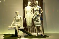 Παράθυρο καταστημάτων μόδας Στοκ εικόνα με δικαίωμα ελεύθερης χρήσης