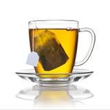 被隔绝的茶包杯 免版税库存照片