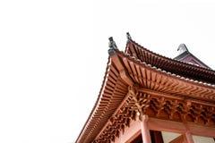 古老建筑学中国式房檐 免版税库存图片