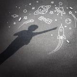 Διαστημικό όνειρο παιδιών Στοκ εικόνες με δικαίωμα ελεύθερης χρήσης