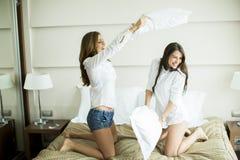 Бой подушки Стоковое фото RF