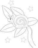 蜗牛着色页 免版税库存照片