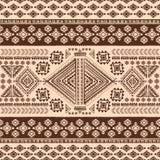 Племенная мексиканская винтажная этническая безшовная картина Стоковые Фото