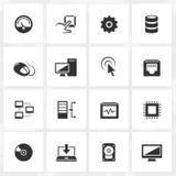 интернет икон компьютера подписывает мир Стоковое Изображение RF