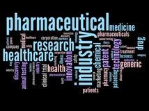 Φαρμακευτικό σύννεφο λέξης Στοκ φωτογραφία με δικαίωμα ελεύθερης χρήσης