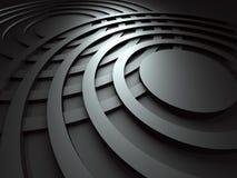 黑暗的抽象圆的设计背景 库存照片