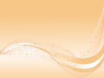 абстрактный вектор кривых фона волнистый Стоковая Фотография