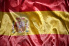 光亮的西班牙旗子 库存图片