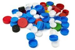 Пластичные крышки бутылки Стоковое фото RF