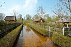 Πλημμύρα άνοιξη, Λευκορωσία Στοκ Εικόνες