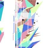 Абстрактный дизайн предпосылки полигона Стоковые Фотографии RF