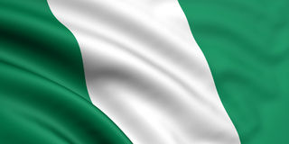 флаг Нигерия Стоковое Фото