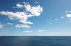 在西班牙海岸线的地中海视图 西班牙巴伦西亚 免版税库存图片