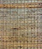 当地泰国样式织法薹席子背景纹理  免版税库存图片