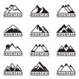Установленные иконы горы Стоковые Фотографии RF