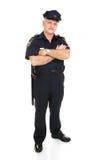 机体充分查出的警察 免版税库存照片