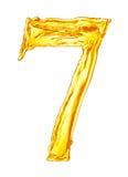 Алфавит сделанный выплеска апельсинового сока Стоковые Изображения