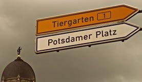 蒂尔加滕-波茨坦广场-柏林 库存照片