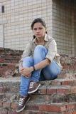 Возмущённая молодая женщина Стоковая Фотография