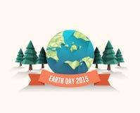 地球日传染媒介 免版税库存照片