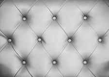 Безшовная серая кожаная предпосылка текстуры Стоковые Фото