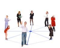 люди сети Стоковое фото RF